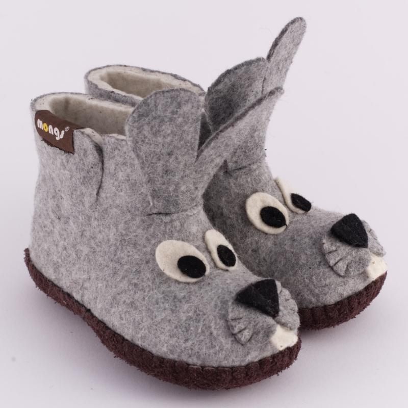 hausschuhe baby bunny grau warme hausschuhe f r kinder. Black Bedroom Furniture Sets. Home Design Ideas